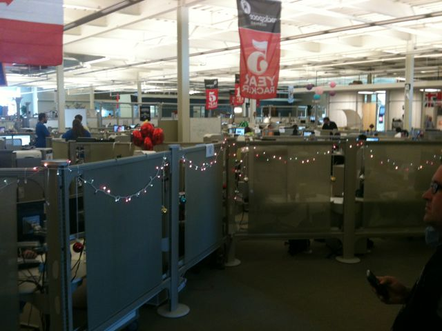 Decorated cubicles awaits all employees--including those who manage the operation at Rackspace. Photo by J. Jeff Kober.
