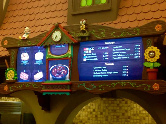New digital menu includes a lot of moving parts in the toys and clock surrounding the board. Photo by J. Jeff Kober.