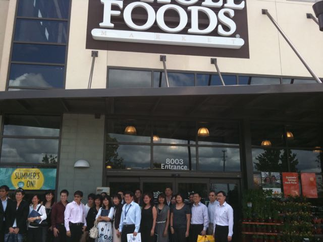 One of our international client groups visiting Whole Foods. It's one of the highlights of their U.S. visit. Photo by J. Jeff Kober.