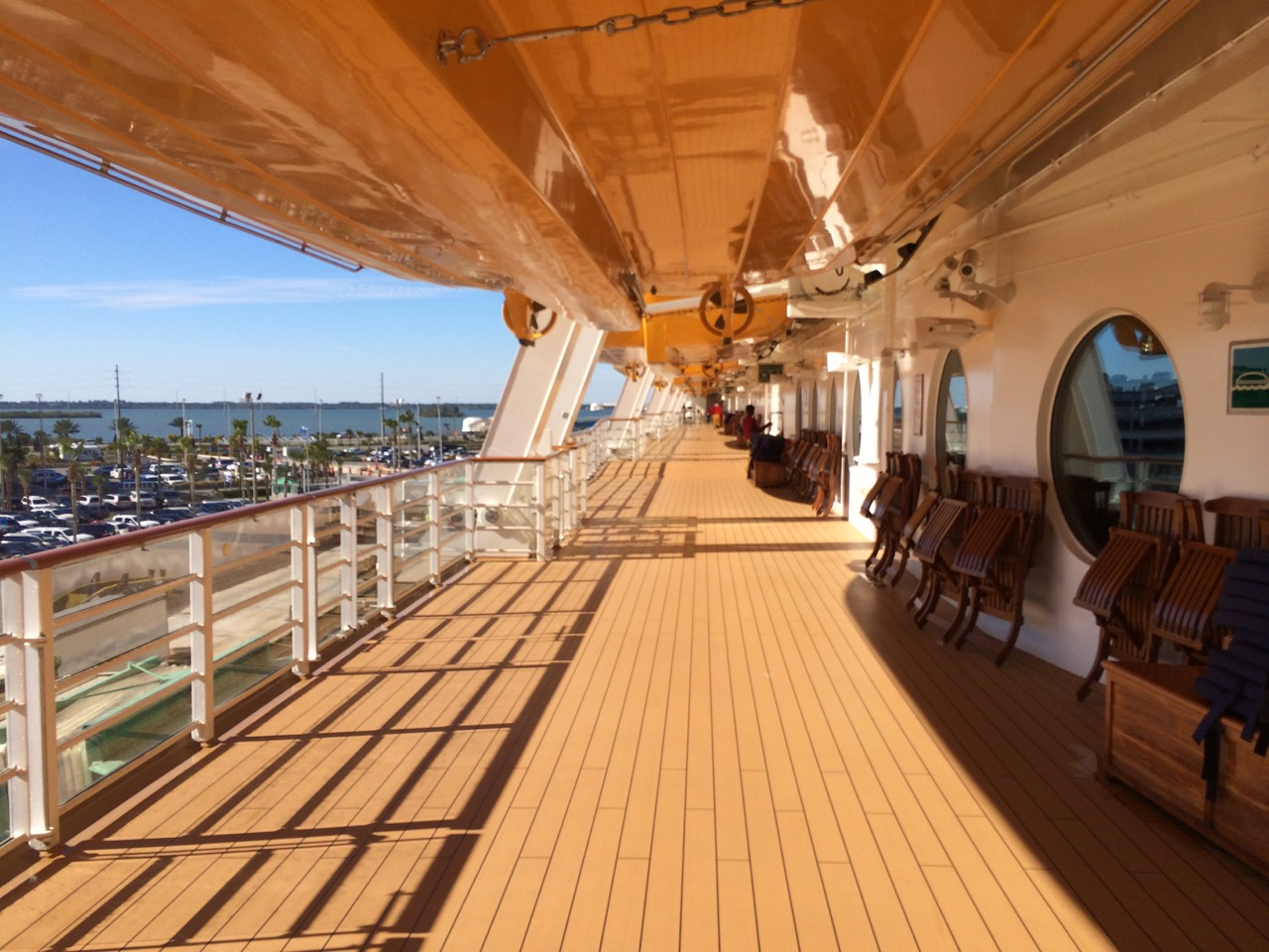 Decks scrubbed and clean for visiting guests on the Disney Cruise Line. Photo by J. Jeff Kober.