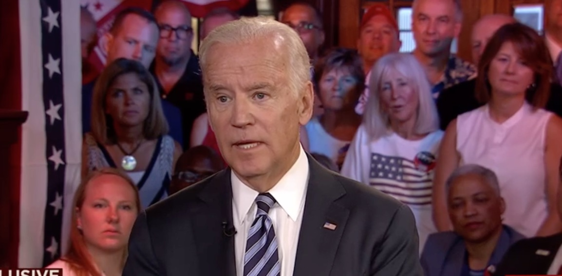 Vice President Joe Biden appearing on MSNBC's Morning Joe.