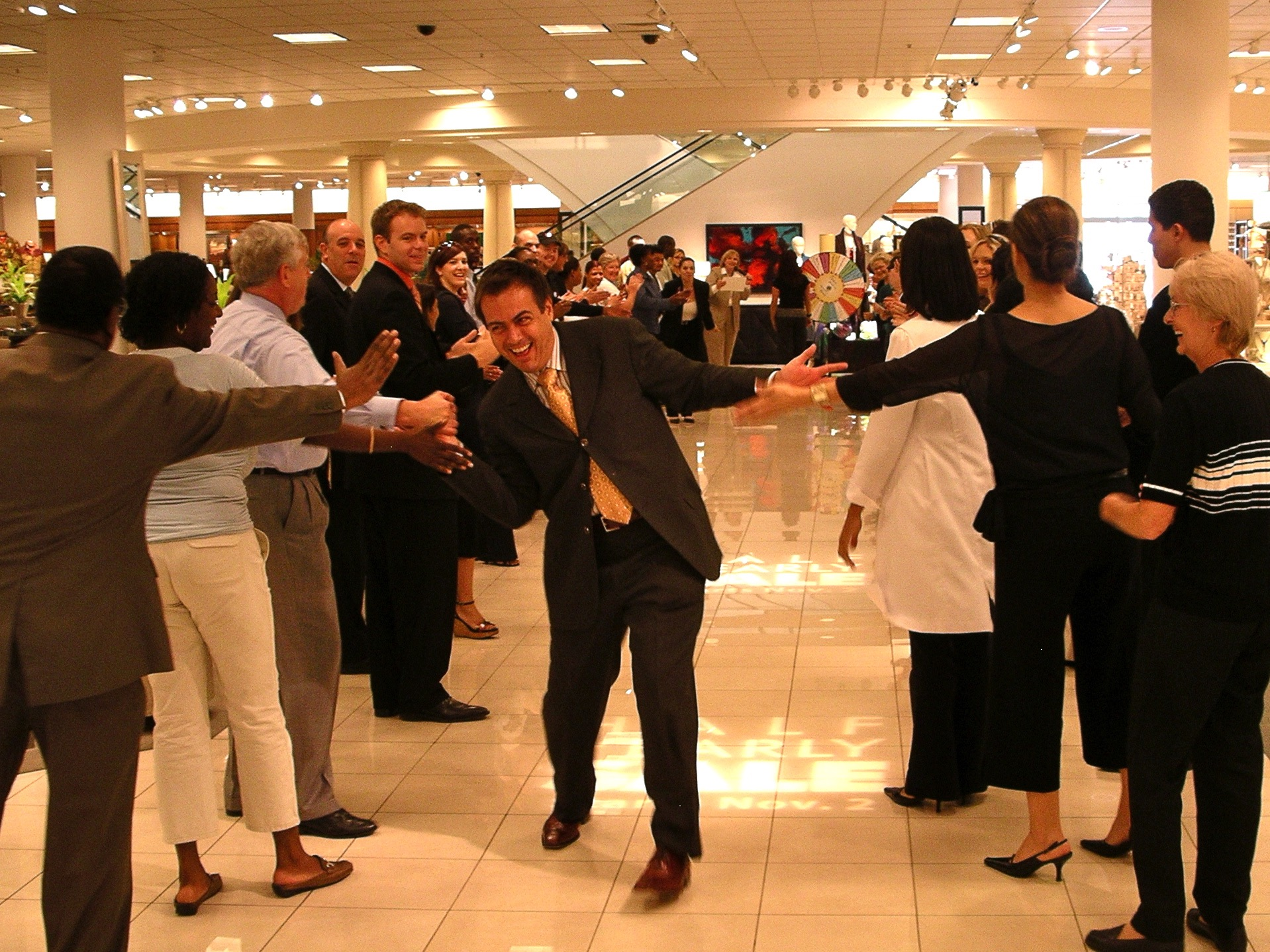 Morning lineup at Nordstrom, celebrating associates. Photo by J. Jeff Kober.