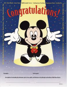 This recognition receipt used to be handed out to Cast Members working at Disney's Grand Floridian Resort & Spa.