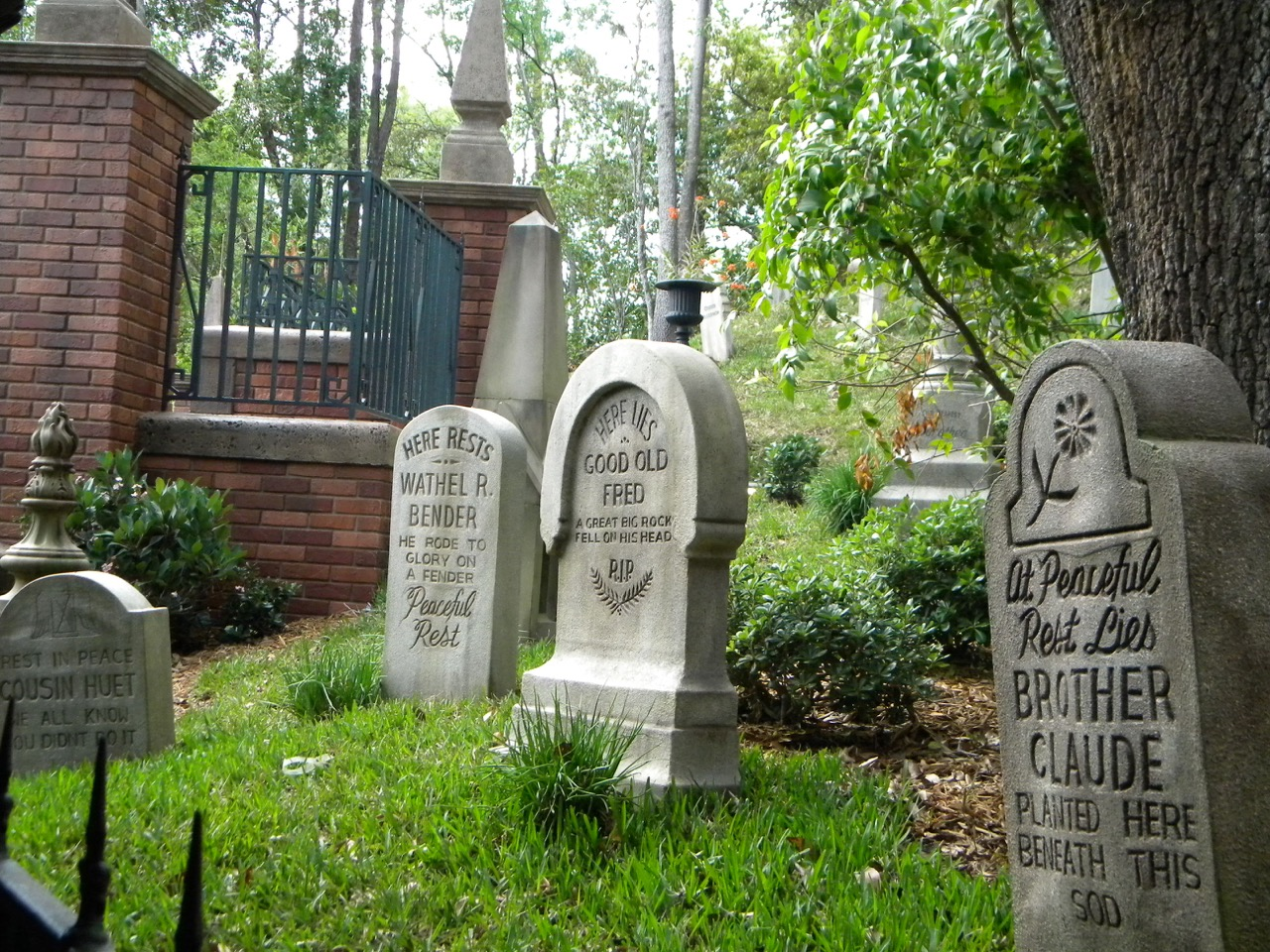Gravestone recognition at the Haunted Mansion. Photo by J. Jeff Kober.