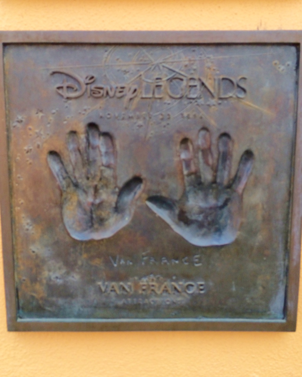 The hands of Van France, founder of The Disney University.
