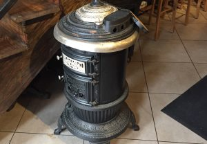 Every restaurant has a potbelly stove in it, symbolizing warmth, dependability, family and fun. Photo by J. Jeff Kober.