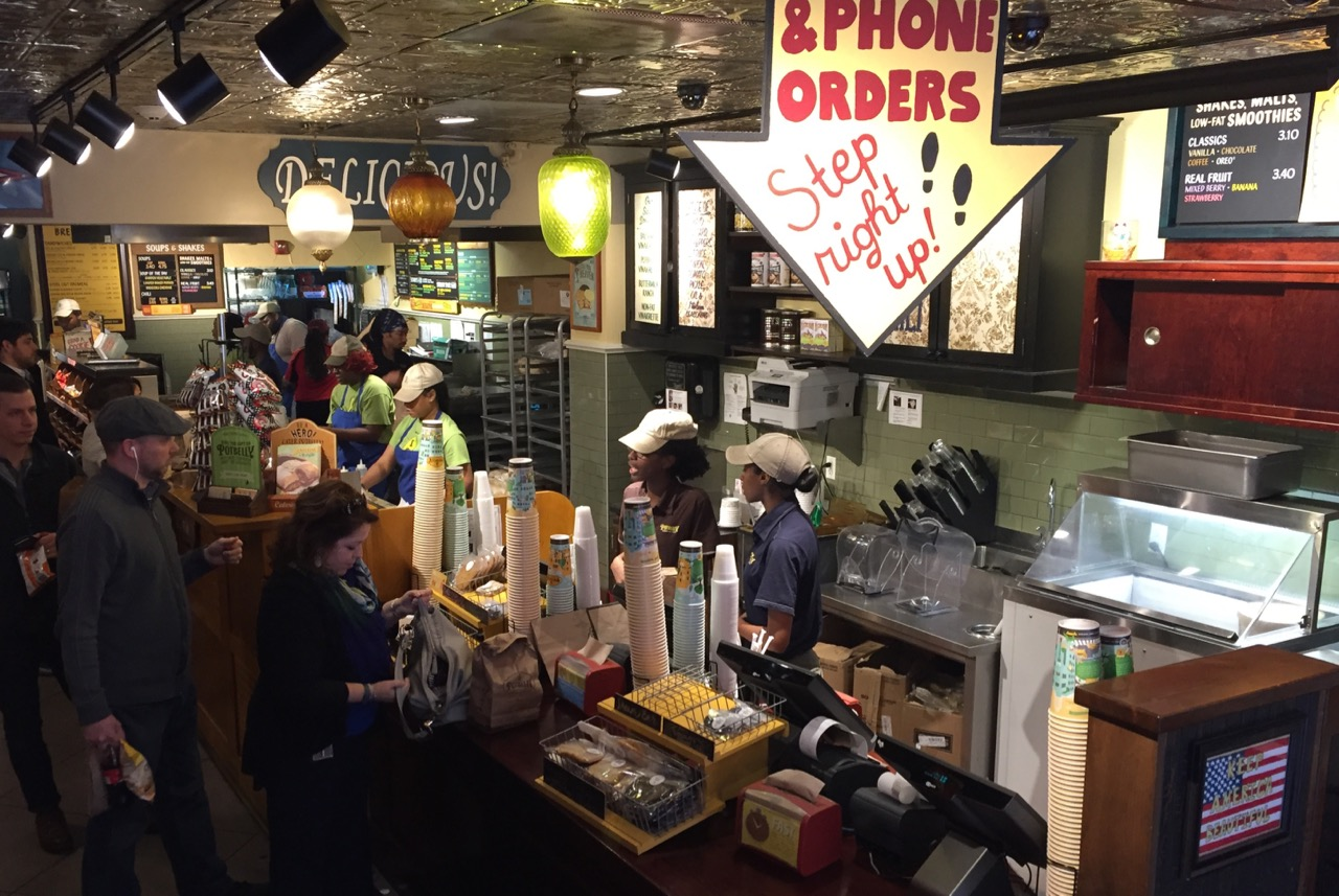 You can see a lot of employees behind the counter working the lunch scene. Photo by J. Jeff Kober.